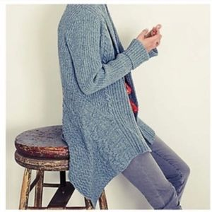 Anthro Canary Knitting Needles Cardigan. Size S